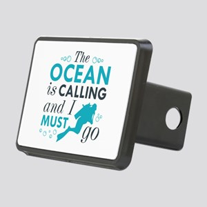 The Ocean Is Calling Rectangular Hitch Cover