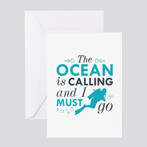 The Ocean Is Calling Greeting Card