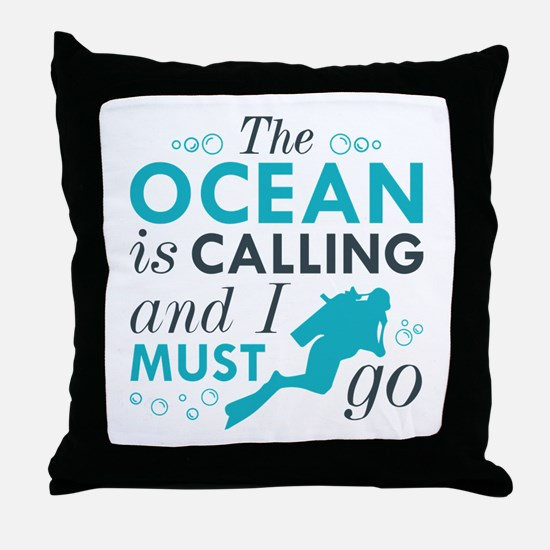 The Ocean Is Calling Throw Pillow