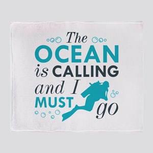The Ocean Is Calling Stadium Blanket