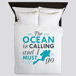 The Ocean Is Calling Queen Duvet