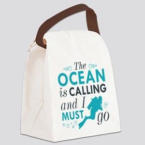 The Ocean Is Calling Canvas Lunch Bag