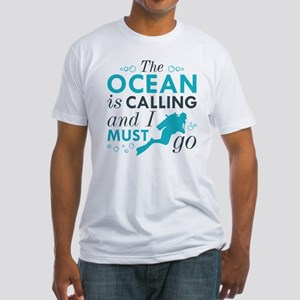 The Ocean Is Calling Fitted T-Shirt