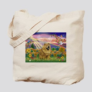 Autumn Angel & Chow Tote Bag