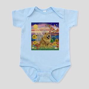 Autumn Angel & Chow Infant Bodysuit