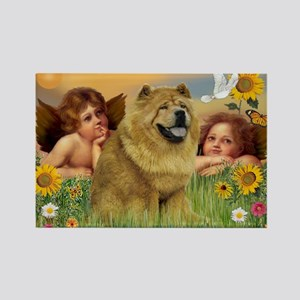 Angels & Chow Chow Rectangle Magnet
