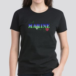 A Marine Has My Heart Women's Dark T-Shirt