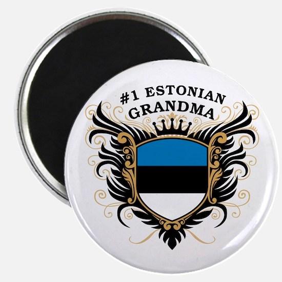 Number One Estonian Grandma Magnet