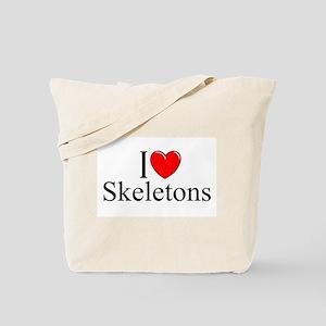 """I Love Skeletons"" Tote Bag"