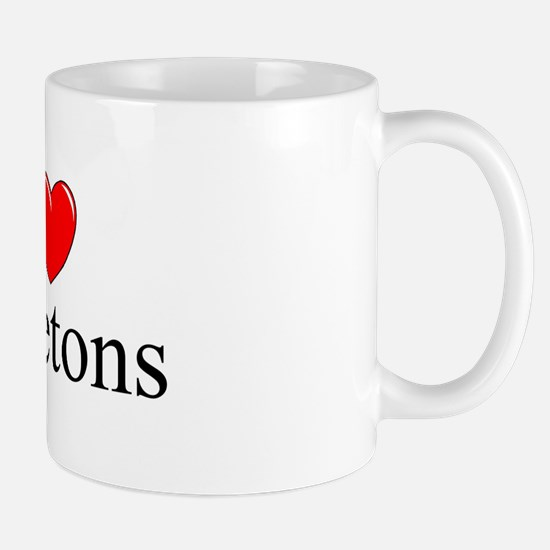 """I Love Skeletons"" Mug"