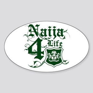 Naija 4 life Oval Sticker