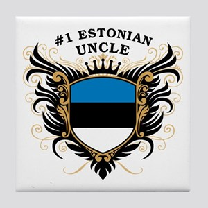 Number One Estonian Uncle Tile Coaster
