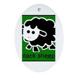 Black Sheep Ornament (Oval)