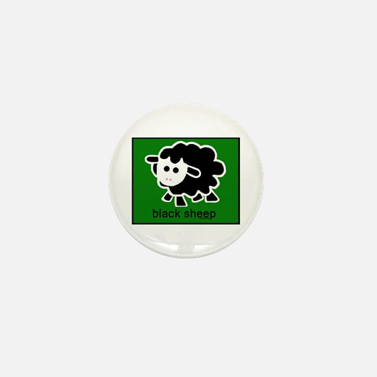 Black Sheep Mini Button
