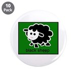 "Black Sheep 3.5"" Button (10 pack)"