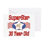 Superstar at 30 Greeting Cards (Pk of 10)