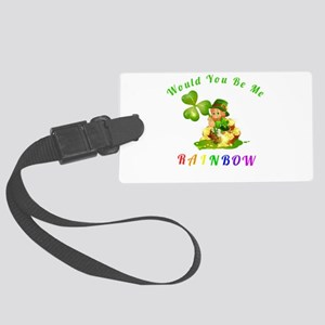 Would you be my Rainbow Large Luggage Tag