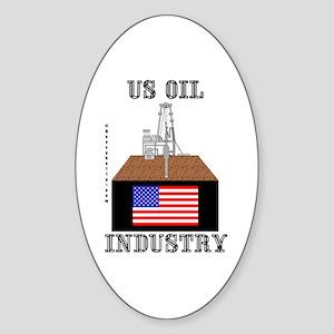 US Oil Industry Oval Sticker