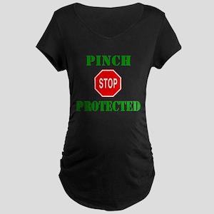 Stop Pinching Protected Maternity Dark T-Shirt