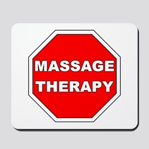 Stop Massage Sign Mousepad