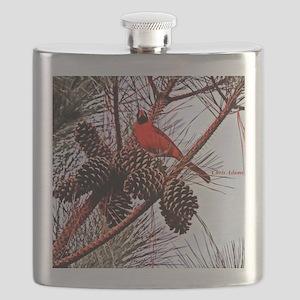Christmas cardinal Flask