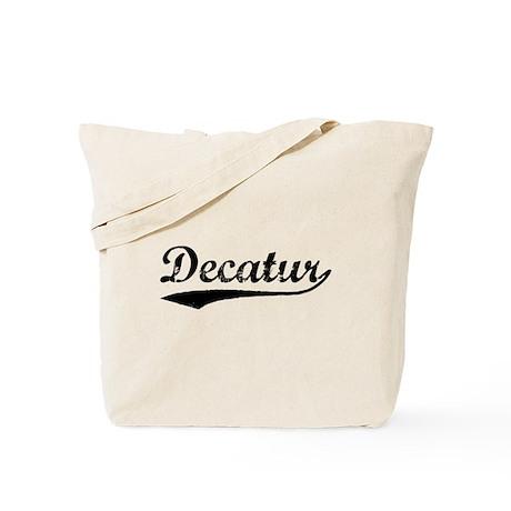 Vintage Decatur (Black) Tote Bag