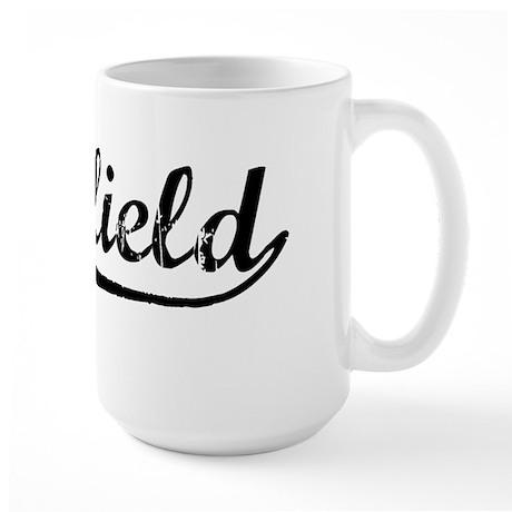 Vintage Deerfield (Black) Large Mug
