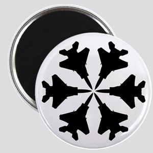 F-15 Aviation Snowflake Magnet