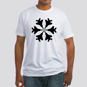 F-15 Aviation Snowflake Fitted T-Shirt