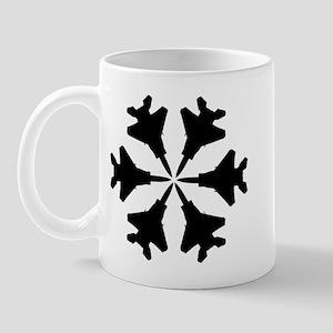 F-15 Aviation Snowflake Mug