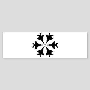 F-15 Aviation Snowflake Sticker (Bumper)