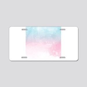 watercolor gradient ombre Aluminum License Plate