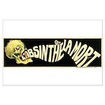 L'Absinthe c'est la mort Large Poster