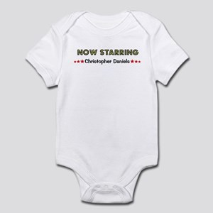 Now starring (any name) red stars Infant Bodysuit
