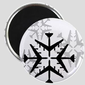 B-52 Aviation Snowflake Magnet
