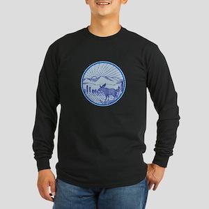 Moose River Flat Mountains Sunburst Circle Mono Li