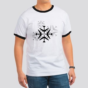 B-52 Aviation Snowflake Ringer T