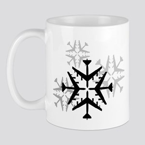 B-52 Aviation Snowflake Mug