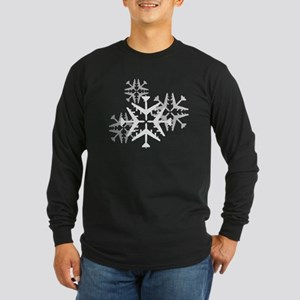 B-52 Aviation Snowflake Long Sleeve Dark T-Shirt
