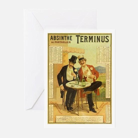 Absinthe Terminus Greeting Cards (Pk of 10)