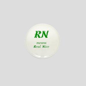 Green RN Mini Button