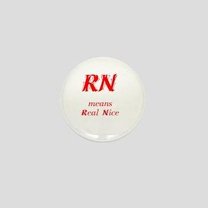 Red RN Mini Button