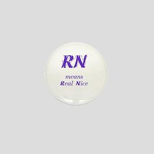 Purple RN Mini Button