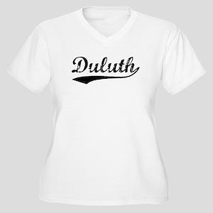 Vintage Duluth (Black) Women's Plus Size V-Neck T-