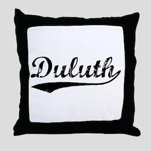 Vintage Duluth (Black) Throw Pillow