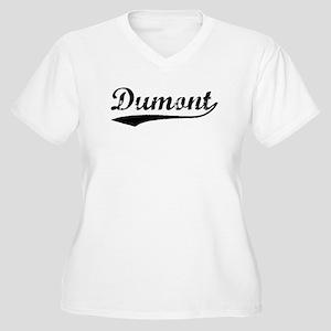 Vintage Dumont (Black) Women's Plus Size V-Neck T-