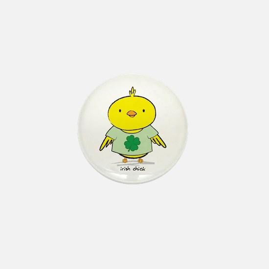 Irish Chick Mini Button