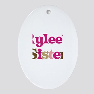 Rylee's Sister Oval Ornament