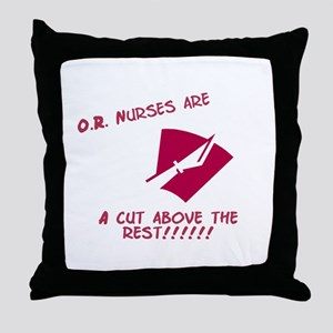 A cut above Throw Pillow