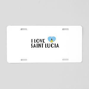 I Love Saint Lucia Aluminum License Plate